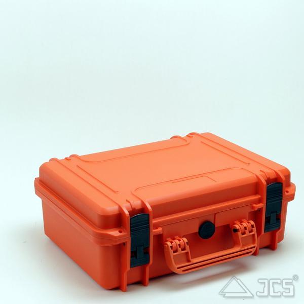 Outdoor Okular-Koffer 43, orange, Trennwandset, Innen 43 x 29 x 16 cm - idealer Okularkoffer
