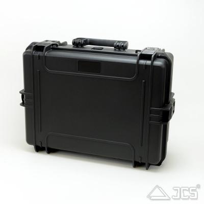 Outdoor Optik-Koffer 50, schwarz, Würfelschaum, Innen 50 x 35 x 19 cm