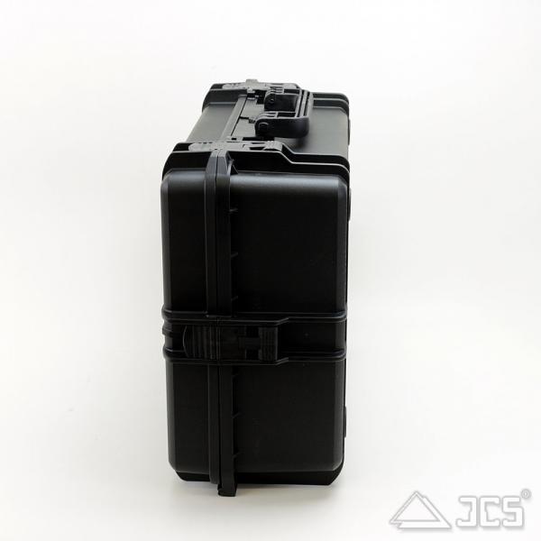 Outdoor Optik-Koffer 50, schwarz, Trennwandset, Innen 50 x 35 x 19 cm