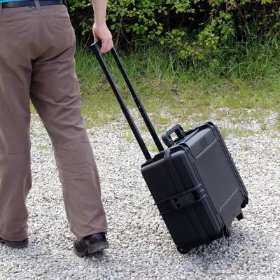 Trolley-Outdoor-Koffer 50, schwarz, Trennwandset, Innen 50 x 35 x 19 cm