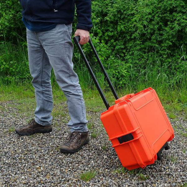 Trolley-Outdoor-Koffer 50, orange, Trennwandset, Innen 50 x 35 x 19 cm
