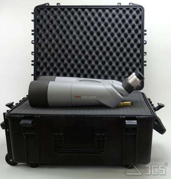 Trolley-Outdoor-Koffer 54, schwarz, Würfelschaum, Innen 54 x 40 x 24 cm