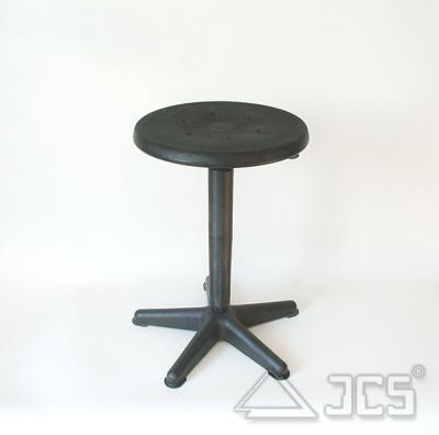 Drehhocker, Sitz PU schwarz höhenverstellbar, 44-63cm
