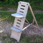 ICS Astro-Stuhl Standard, grau Höhe 90 cm, mit verstärktem Sitzbrett