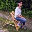 ICS Astro-Stuhl Standard, natur Höhe 90 cm, Beobachterstuhl