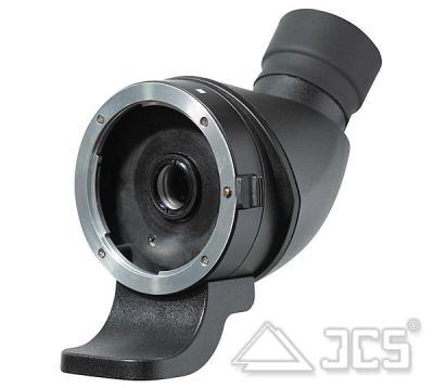 lens2scope 10mm für Canon schwarz Schrägeinblick Spektivansatz für Fotoobjektiv