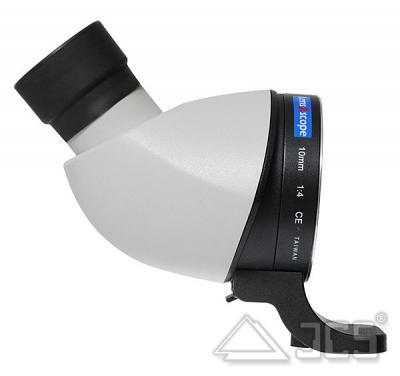 lens2scope 10mm für Canon weiss Schrägeinblick Spektivansatz für Fotoobjektiv