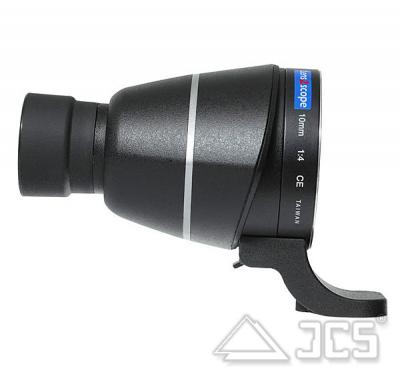 lens2scope 10mm für Canon schwarz Geradeeinblick Spektivansatz für Fotoobjektiv