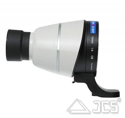 lens2scope 10mm für Canon weiss Geradeeinblick Spektivansatz für Fotoobjektiv