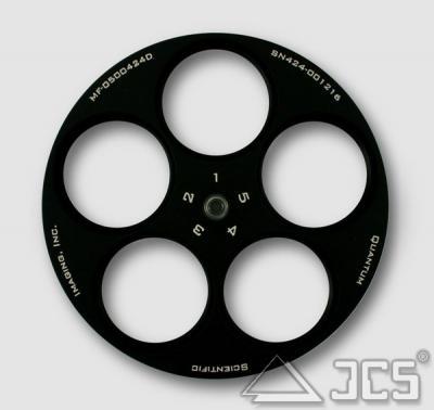 """Zusätzliches 5er-Filterrad 1,25"""" für Serie 500 & 600 ws und wsg Kameras"""