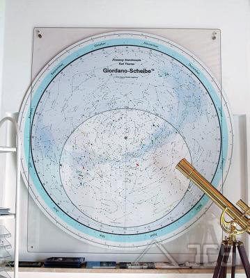 Drehbare Sternkarte Giordano C 140 cm. 50 Grad Nord, Deutsch