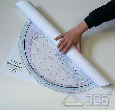 Rollbare Sternkarte Cassini 70 cm 50ND. 50 Grad Nord, Deutsch