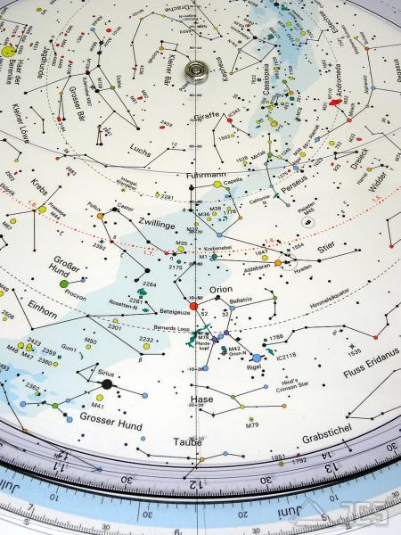 Drehbare Sternkarte Herschel 40cm 50ND 50 Grad Nord, Deutsch