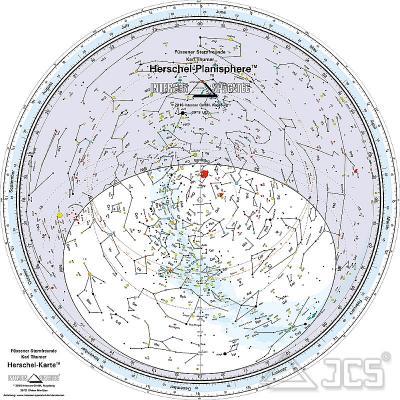 Drehbare Sternkarte Herschel 40cm 30SE 30 Grad Süd, Englisch