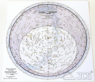 Drehbare Sternkarte Herschel 40cm 50ND, verstärkt 50 Grad Nord, Deutsch