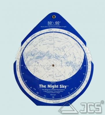 The Night Sky Planisphere 50-60° Nord