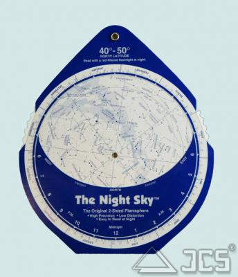 The Night Sky Planisphere 40-50° Nord