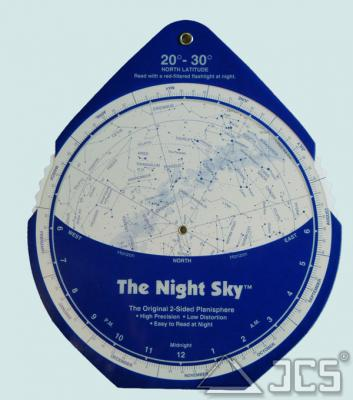 The Night Sky Planisphere 20-30° Nord