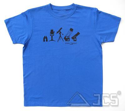 T-Shirt TF-2015, blau Gr. S Motiv: Teleskope und Ferngläser