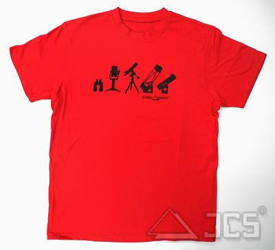 T-Shirt TF-2015, rot Gr. S Motiv: Teleskope und Ferngläser