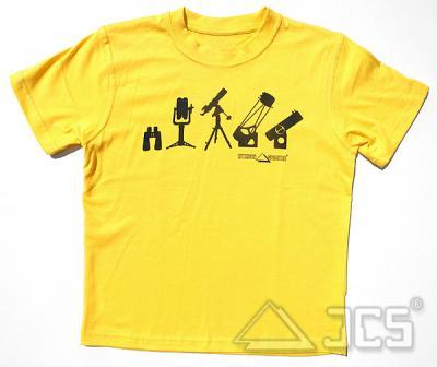 Kinder T-Shirt TF-2015, gelb Gr.140 Motiv: Teleskope und Ferngläser