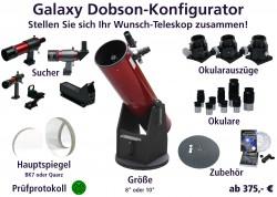 Teaserbild vom Konfigurator für Galaxy-Dobsons von Intercon Spacetec
